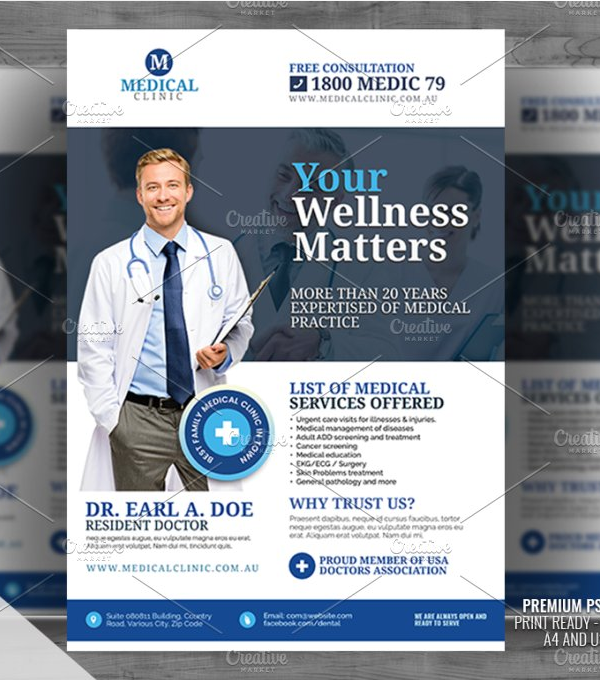Doctor and Medical Service Flyer